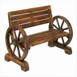 ... Wholesale 12690 Rustic Wood Design Home Garden Wagon Wheel Bench Decor