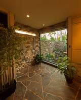 ... Tropical design ideas with adaptable design flagstone floors garden