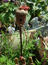 Red Berry Fairy Bird House for Fairy Garden by Fairy Patch