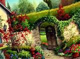 flower garden wall
