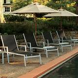 Oxford Garden Travira Teak Mesh Chaise Lounge Chairs (4pk)