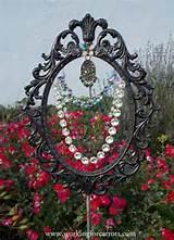whimsical garden art beaded sun catcher recycling a mirror frame i