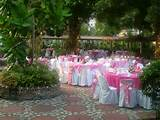 beautiful garden wedding reception area in the philippines.