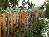 decorative garden wood fence designs