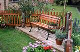 Garden-Bench-in Small garden Decoration Ideas