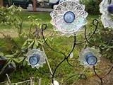 Recycled glass flowers