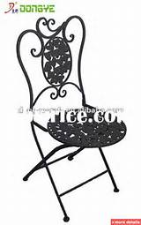 Outdoor Furniture Wrought Iron Chair YC000703 / China Garden Sets for ...