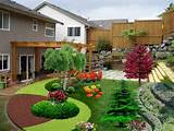 front yard landscape for small yards amazing with garden decorations