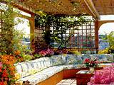 ... With Beautiful Flowers In Fascinating Rooftop Garden Design Ideas