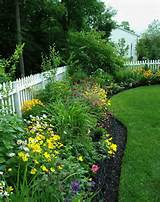 Landscaping around fence