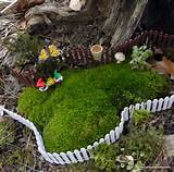 Fairy Garden Fence - Rusty Fence - Miniature White Picket Wooden Fence ...