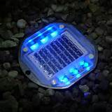 blue solar powered path light