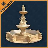 unique custom stone water fountains of yellow marble for outdoor decor