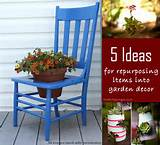 ... unique repurposing ideas using recycled items to make some fun garden