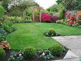 ... Garden Border Ideas Easy Care Border Garden : Cool Border Landscaping