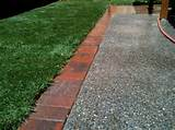 edge it decorative plastic brick edging with 6 solar lighted bricks ...