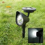 Outdoor Solar Power 3 LED Light Lamp Garden Landscape Pathway Insert ...