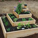 tiered love this photo via raised bed vegetable garden