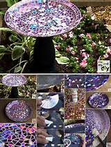 Mosaic Tile Birdbath Recycled DVDs Gorgeous DIY Birdbath With Recycled ...