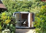 outdoor home office futuristic home office