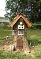 tree stump turned gnome home