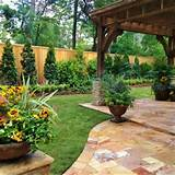 backyard landscaping along fence patio landscaping ideas pinter