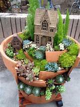 nice broken pot garden layout fairy pinterest