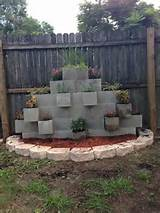 ... Cinder Block Garden, Grassless Backyard Diy, Patios Yards, Yards Ideas