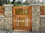 wood garden gate designs