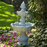 tiered fountain for outdoors will make a nice centerpiece in your