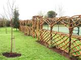 Rustic Arches, Gates & Fencing >> Square Top Arch and Oak and Chestnut ...