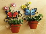 Gardening Flower Pots Decoration Ideas With Buterfly Planters