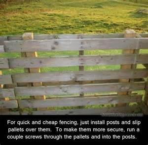 Cheap and easy pallet fence | Helpful Ideas | Pinterest