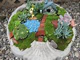 Birdbath Fairy Garden | Craft ideas | Pinterest