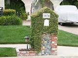 Brick Mailbox Ideas : Brick Mailbox Designs With Light Garden Image id ...