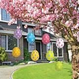 easter egg decoration hang colorful easter eggs under the branches of