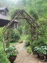 rustic arbor garden ideas gardening pinterest