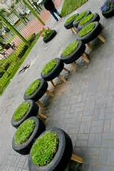 Tire Garden Planter -2 : Cool tire planter made out by turning the ...