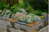 concrete block raised garden bed plans landscaping ideas landscape