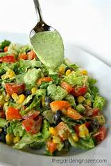 the garden grazer southwestern chopped salad with cilantro dressing