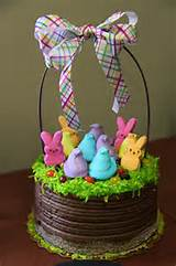 peep easter basket cake flickr photo sharing