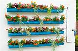 vertical garden made from rain gutters growing eating food