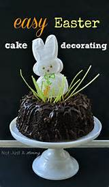 Easy Easter Cake Decorating + Exciting News | Not Just A Mommy