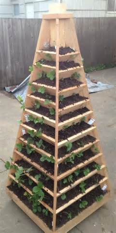 How To Build A Vertical Garden Pyramid Tower For Your Next diy Garden ...