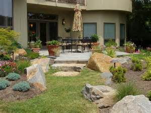 patio landscaping photo by photo credit gregs landscaping