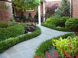 slate walkway + lilyturf border | luxuriant landscapes | Pinterest