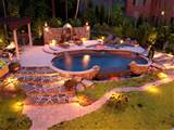 landscaping stamped concrete borders and landscape lighting projects