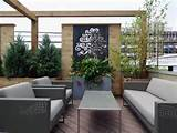 roof deck privacy screen outdoor furniture urban garden landscape