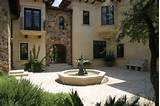 designs villa s front courtyard fountain and herb garden garden design