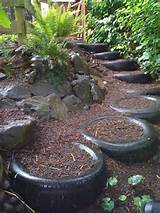 Tires repurposed garden steps | DIY Garden decoration ideas with old ...